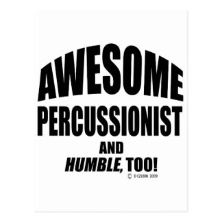 Awesome Percussionist Post Card