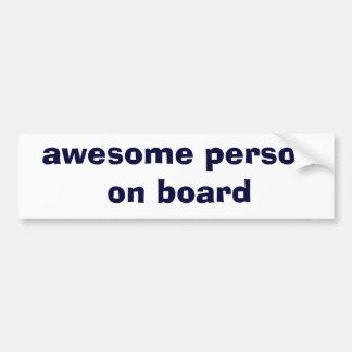 awesome person on board car bumper sticker
