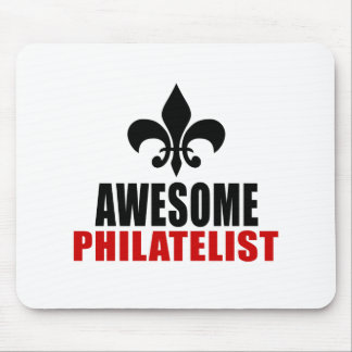 AWESOME PHILATELIST MOUSE PAD