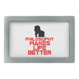 awesome Philosophy designs Rectangular Belt Buckle