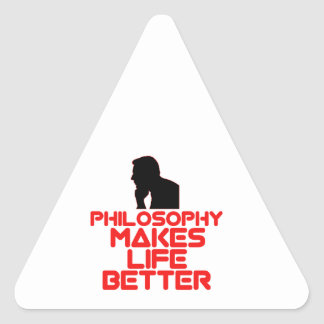 awesome Philosophy designs Triangle Sticker