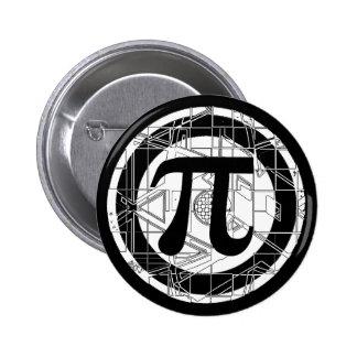 Awesome Pi Symbol Pinback Button