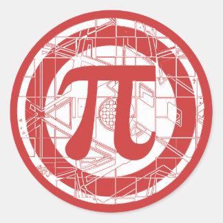 Awesome Pi Symbol Classic Round Sticker