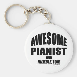Awesome Pianist Keychain