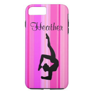 AWESOME PINK PERSONALIZED GYMNASTICS PHONE CASE