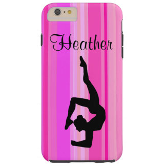 AWESOME PINK PERSONALIZED GYMNASTICS PHONE CASE TOUGH iPhone 6 PLUS CASE