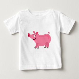 Awesome Pink Pig Wearing Lipstick Art Baby T-Shirt