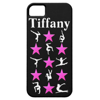 AWESOME PINK STAR PERSONALIZED GYMNAST IPHONE CASE iPhone 5 CASES
