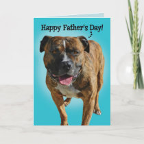Awesome Pit Bull Father's Day Card