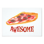 Awesome Pizza 5x7 Paper Invitation Card