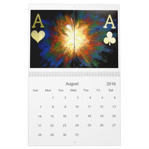 Awesome Poker Art Decor Calendar 2007 - 2008