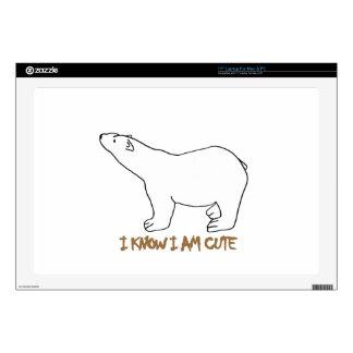 """awesome polar bear designs 17"""" laptop skin"""