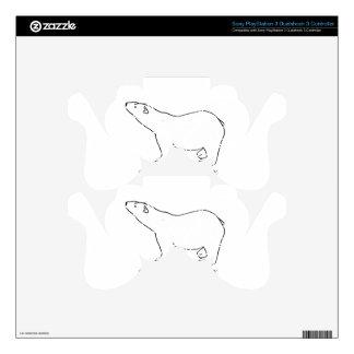 awesome polar bear designs PS3 controller decal