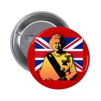 Awesome Pop Art Diamond Jubilee with Union Jack Pinback Button