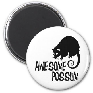 Awesome Possum 2 Inch Round Magnet