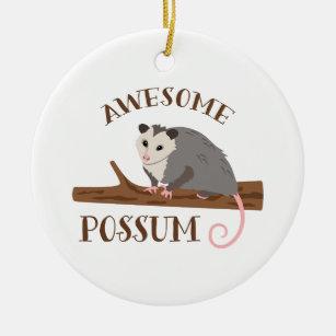 Awesome Possum Ceramic Ornament