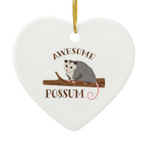 Awesome Possum Ceramic Ornament