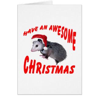 Awesome Possum Christmas Card