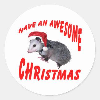 Awesome Possum Stickers | Zazzle