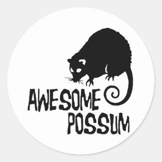 Awesome Possum Classic Round Sticker