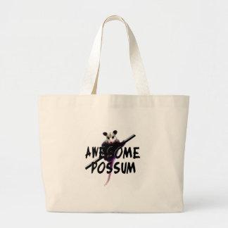 Awesome Possum Large Tote Bag