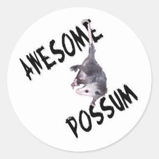 Awesome Possum Opossum Round Stickers