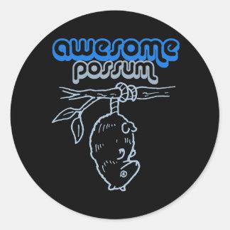 AWESOME POSSUM T-shirt Classic Round Sticker