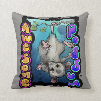 Awesome Possum! Throw Pillow