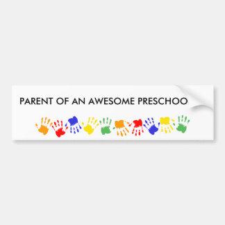 Awesome Preschooler! Car Bumper Sticker