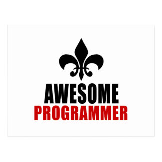 AWESOME PROGRAMMER POSTCARD