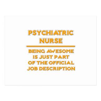 Awesome Psychiatric Nurse ..  Job Description Postcard
