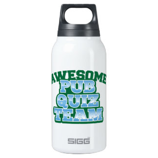 Awesome Pub Quiz TEAM! 10 Oz Insulated SIGG Thermos Water Bottle