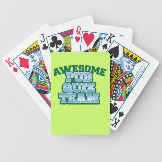 Awesome Pub Quiz TEAM! Bicycle Playing Cards