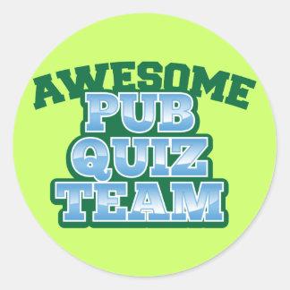 Awesome Pub Quiz TEAM! Classic Round Sticker