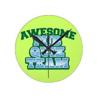 Awesome Pub Quiz TEAM! Round Wallclock