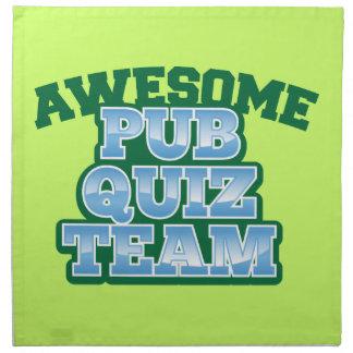 Awesome Pub Quiz TEAM! Napkin