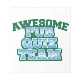 Awesome Pub Quiz TEAM! Notepad