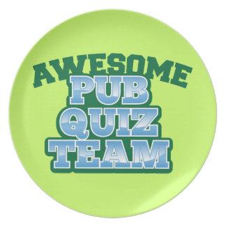 Awesome Pub Quiz TEAM! Plate