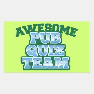 Awesome Pub Quiz TEAM! Rectangular Sticker