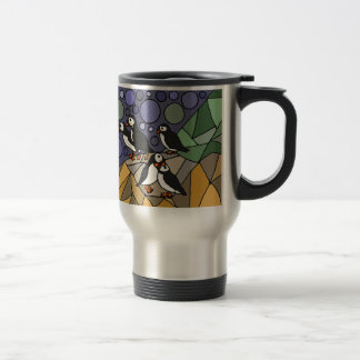 Awesome Puffin Bird Art Abstract Original 15 Oz Stainless Steel Travel Mug