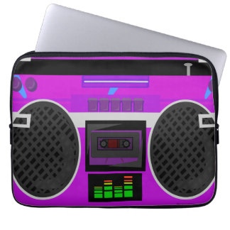 Awesome Purple 80's Boombox Computer Sleeve