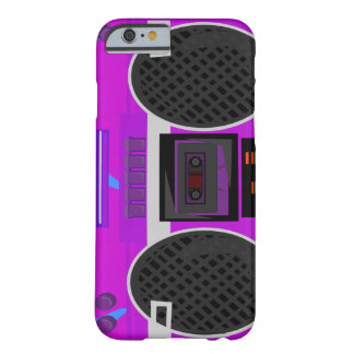 Awesome Purple 80's Boombox iPhone 6 Case