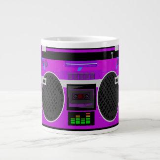 Awesome Purple 80's Boombox 20 Oz Large Ceramic Coffee Mug