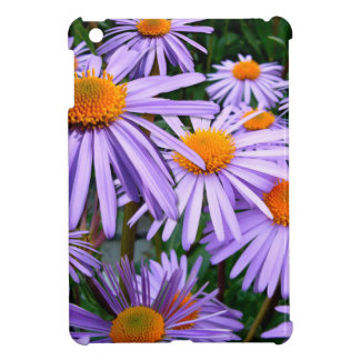 Awesome Purple Gold Asters Floral Design Cover For The iPad Mini