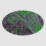 Awesome Purple Green Abstract Architectural Design Stickers