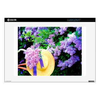 """Awesome Purple Lilacs Floral Design Photo Image 15"""" Laptop Decal"""