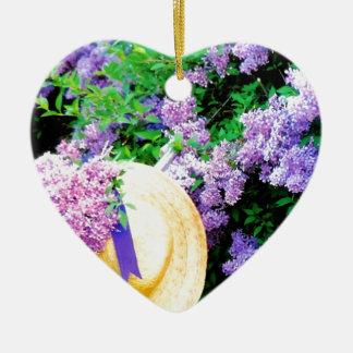 Awesome Purple Lilacs Floral Design Photo Image Ceramic Ornament