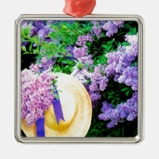 Awesome Purple Lilacs Floral Design Photo Image Metal Ornament