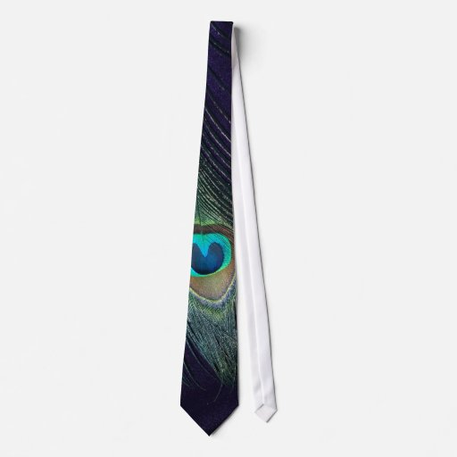 Awesome Purple Peacock Feather Tie