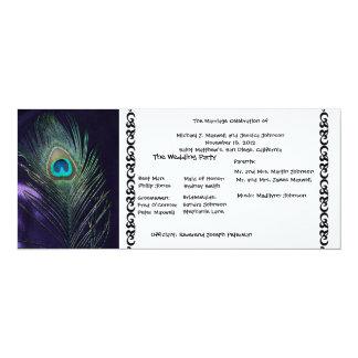 Awesome Purple Peacock Wedding Program Card